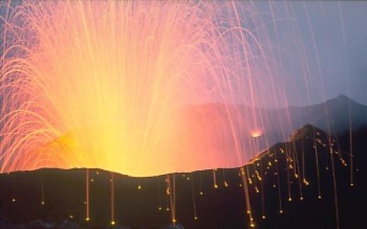 Strombolian Eruption