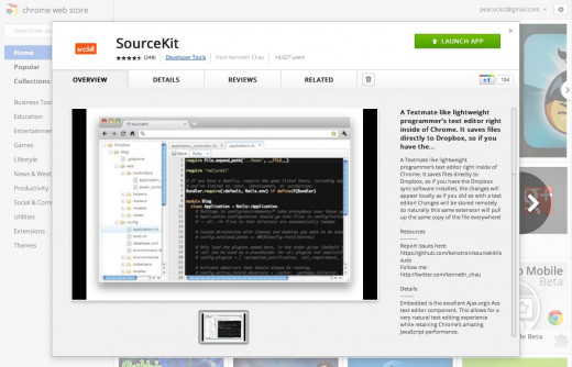 SourceKit in the Chrome Web Store