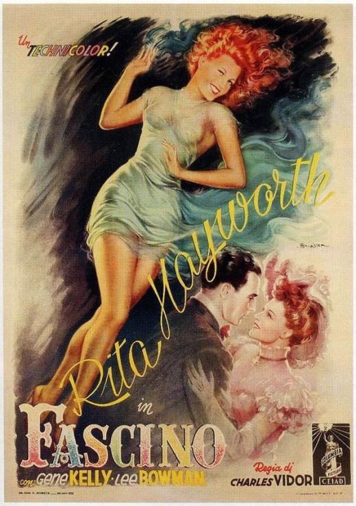Cover Girl (1944) Italian poster