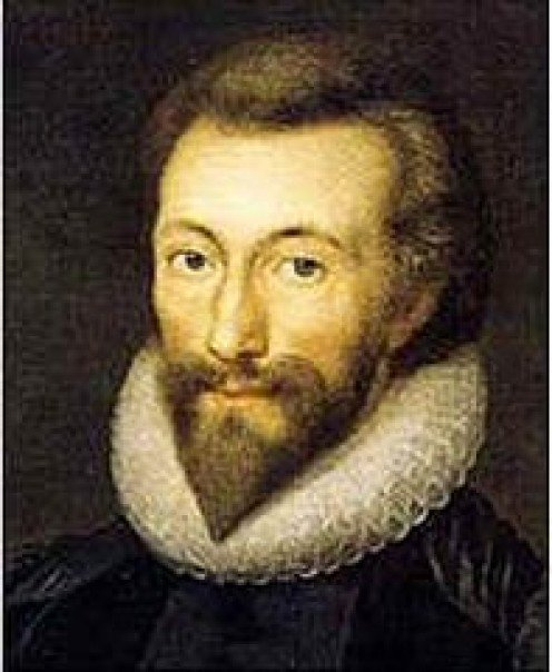 Portrait of John Donne.