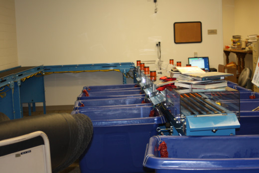 We are going to sort pieces of work that we plan to do into separate buckets, the way this automatic file sorter drops files into the right bin.