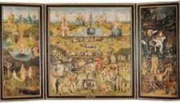 "An extremely small Heironymous Bosch's ""The Garden of Eartly Delights"" Triptych"
