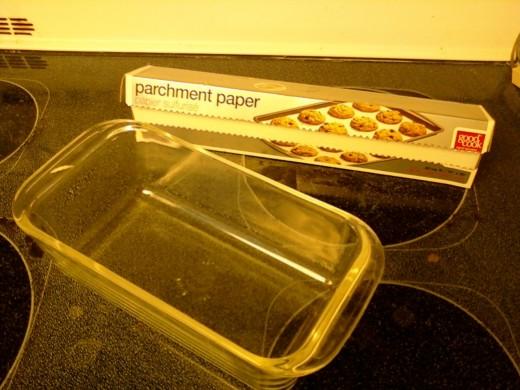 1. Loaf Pan 2. Parchment Paper