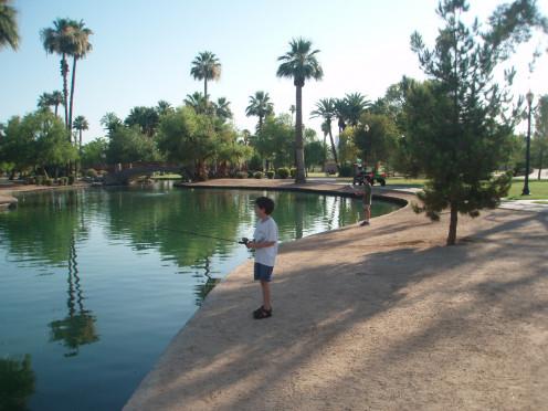 Fishing at Encanto Park