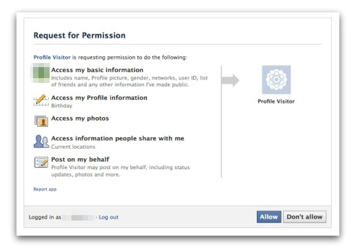 Facebook Profile Viewer - HOAX - Request For Permission