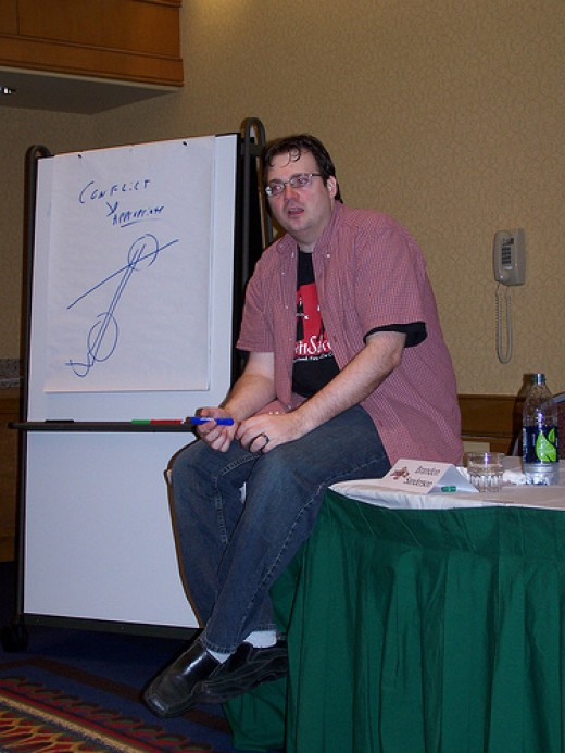 Brandon Sanders lecture on writing Fantasy  from postwhatever Source: flickr.com