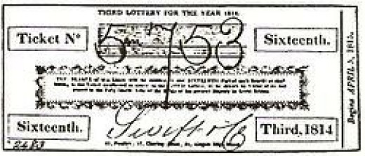 English State Lottery Ticket 1814 issued by broker Swift & Co.