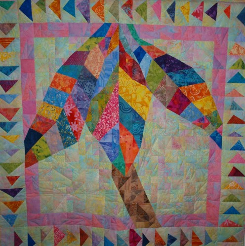 "'Key West"" Original Quilt Design by Glimmer Twin Fan"