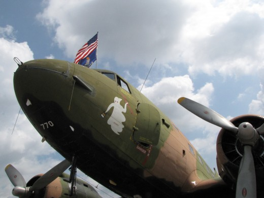 "The AC-47 Gunship, nicknamed ""Spooky"""