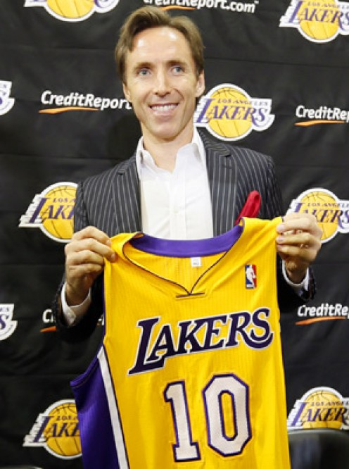 Steve Nash in a Laker uniform doesn't spell good news for fantasy owners.  Not enough shots to go around.