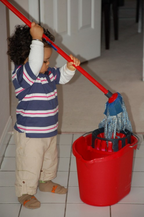 Try to keep chores age appropriate.