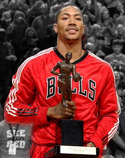 Rose became the youngest MVP ever in 2011 in an incredible season leading the Bulls to a 62-20 season.