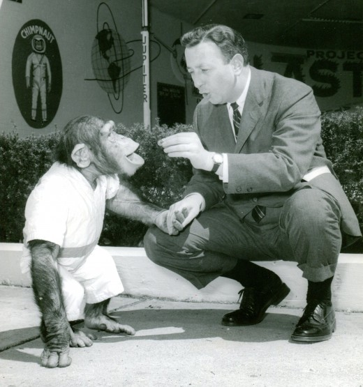 A six-year-old Ham meets Sonny Elliot (1962)