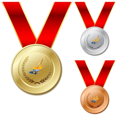 The Gold, Silver & Bronze medals