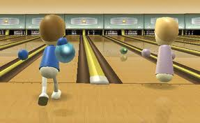 Bowling! I run right up to the line!