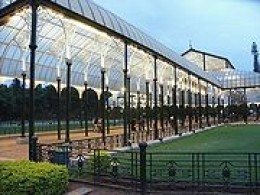 LAL BAGH GLASS HOUSE,a heritage building which hosts FLOWER SHOWS.
