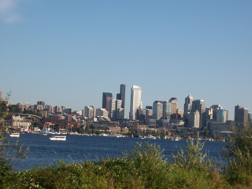 View of downtown Seattle from Gas Works Park