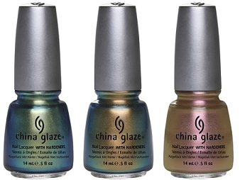China Glaze Unpredictable, Rare & Radiant, Swanky Silk