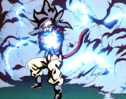 super saiyan goku 100. Super Saiyan 4 Goku Kamehameha x100. SSJ4 Goku Kamehameha
