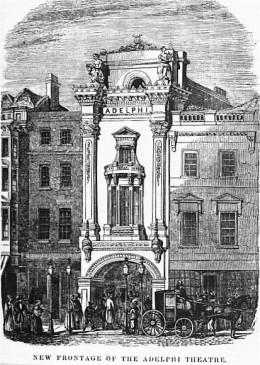The haunted Adelphi Theatre in 1840.
