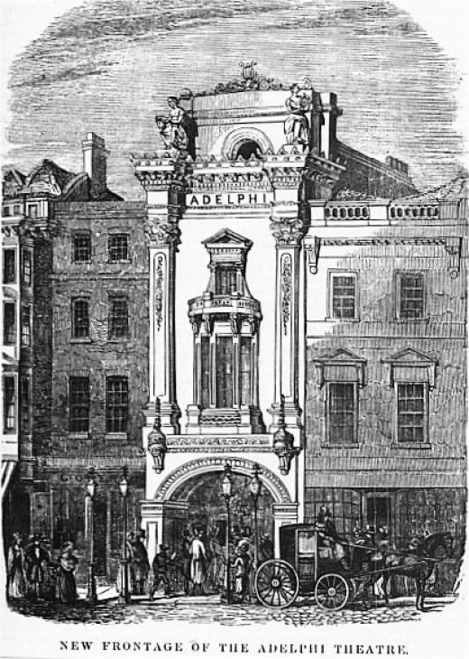 The haunted Adelphi Theatre in 1840.