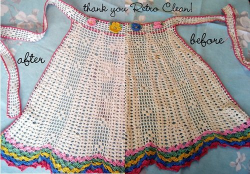 Crocheted aprons were used mostly for special occasions.
