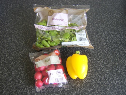 Principal watercress salad ingredients