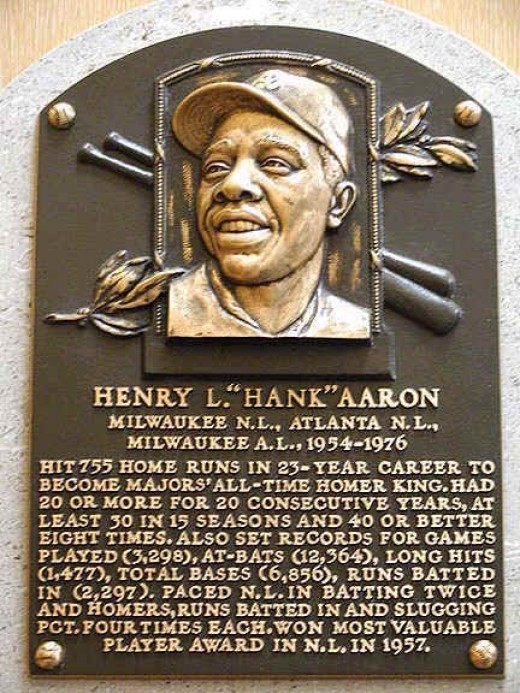 "Henry ""Hank"" Aaron's Hall of Fame plaque"