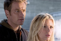 Ewan McGregor and Scarlett Johansson in The Island (2005)