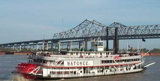 Paddleboat Natchez, on the Mississippi River