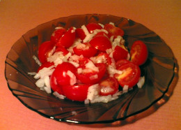 Easy and Beautiful Salad using Cherry Tomatoes