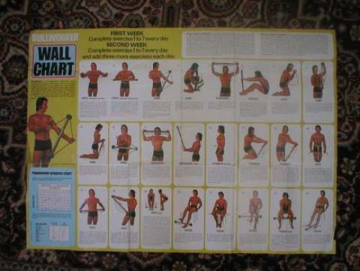 Original Bullworker Exercises Wall Chart