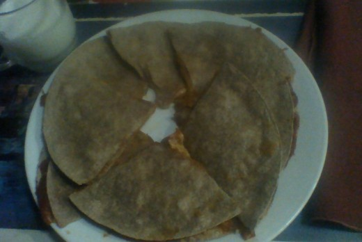 """My daughter loved her """"pizzadillas,"""" and asked for more when she ate up her portion!"""
