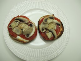 These mini pizzas are quick and delicious. Why order out?