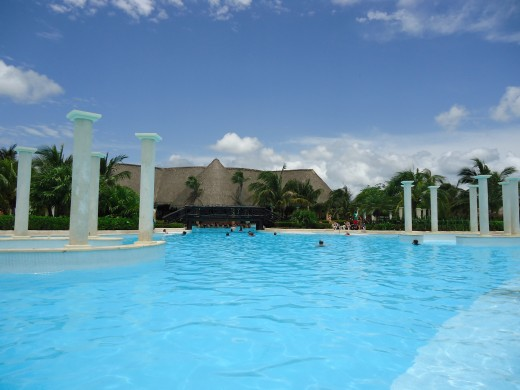 One of the amazing pools of the Resort