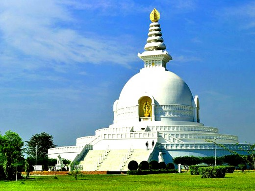 World Peace Monastery in Lumbini, the birthplace of the Buddha
