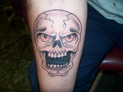 Skull Tattoo Cover Up