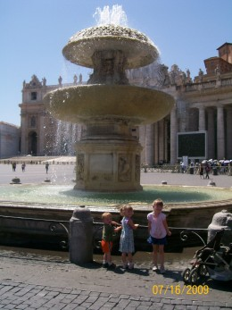 The two fountains in the center were HUGE!
