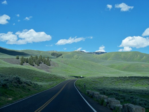 Lamar Valley - Yellowstone National Park - Yes this is an actual picture that we took.
