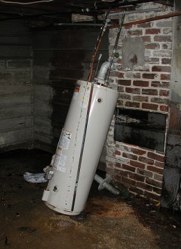 Water heaters should be connected and show few or no signs of rust. Defects and leaks can result in flooding, mold growth, or personal injuries.