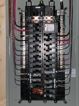 This electrical panel shows it to be 150 amp service. There aren't any signs of trouble apparent in this photo.