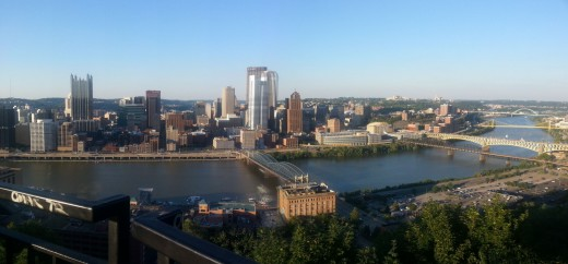 Breathtaking view of Pittsburgh on top of Mt. Washington