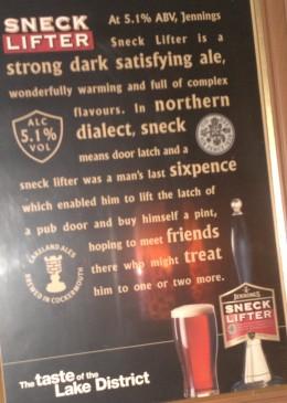 Poster at the Bridge Inn, Santon Bridge.
