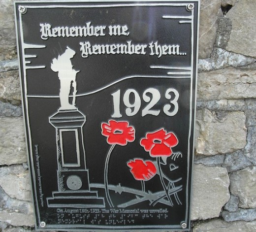 Clitheroe War Memorial Braille Date Plaque