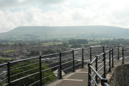 Pendle from Clitheroe Castle
