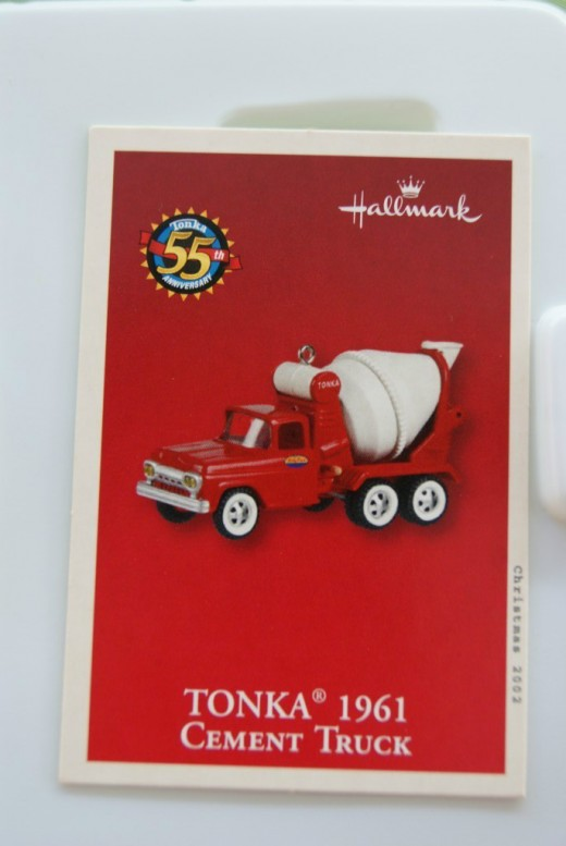 1961 Hallmark Tonka Cement Truck Keepsake Ornament