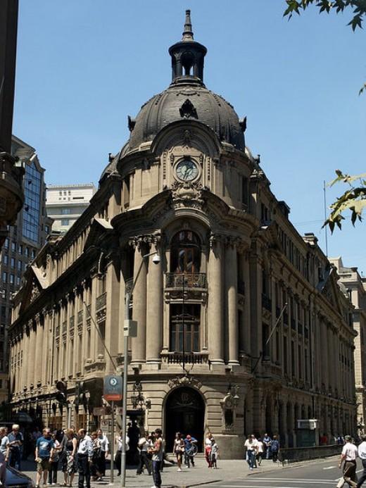 Downtown Santiago, classic building