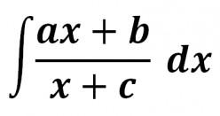 Rational Function Antiderivative (ax + b)/(x + c)