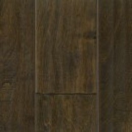 Medium finish hardwood flooring.
