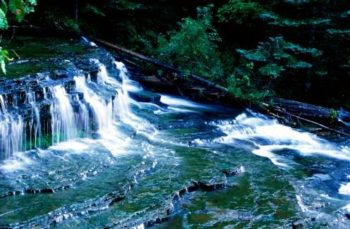 Au Train Falls, Hiawatha National Forest, Michigan's Upper Peninsula,